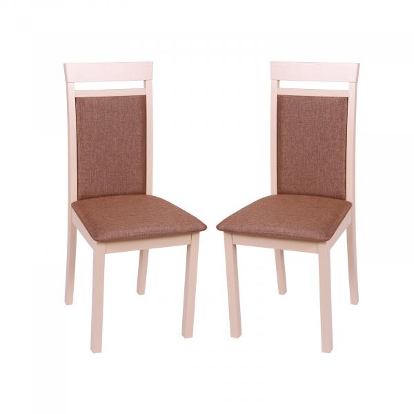 Set 2 scaune Wooden 2, Lemn, Beige/Veles 15 0