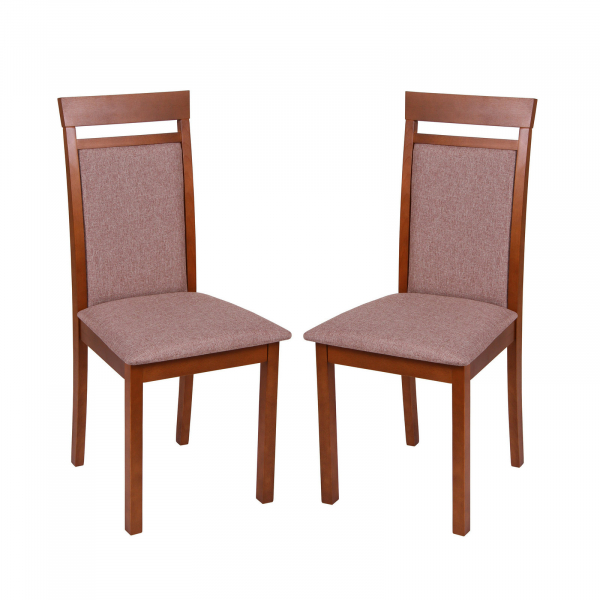 Set 2 scaune Wooden 2, Lemn, Walnut/Veles 6 0