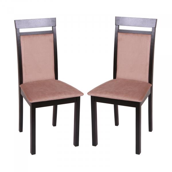 Set 2 scaune Wooden 2, Lemn, Wenge/Aya Nougat [0]