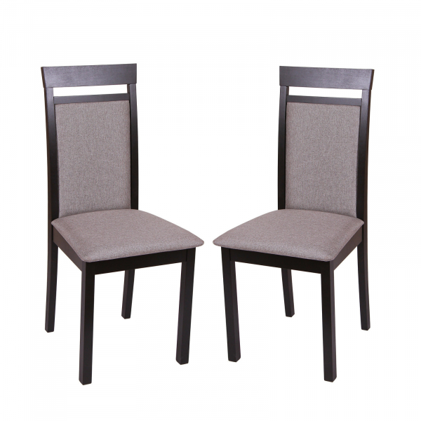 Set 2 scaune Wooden 2, Lemn, Wenge/Veles 14 0