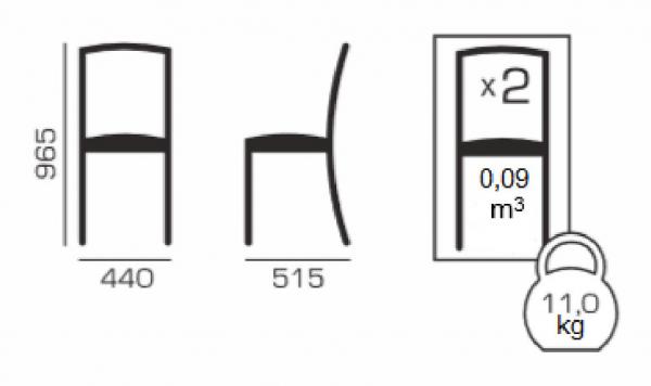 Set 2 scaune Wooden, Lemn, Nut/Misty beige 5