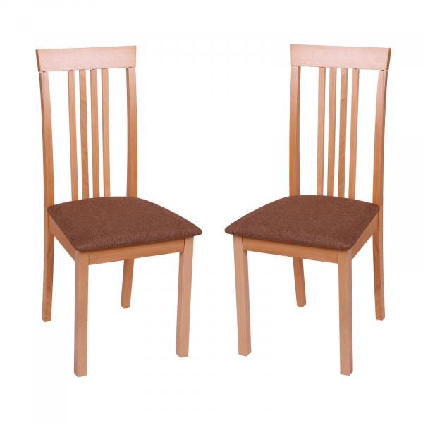 Set 2 scaune Wooden, Lemn, Beech/Savannah Gold Browm 0
