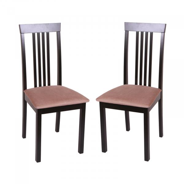 Set 2 scaune Wooden, Lemn, Wenge/Aya Nougat [0]