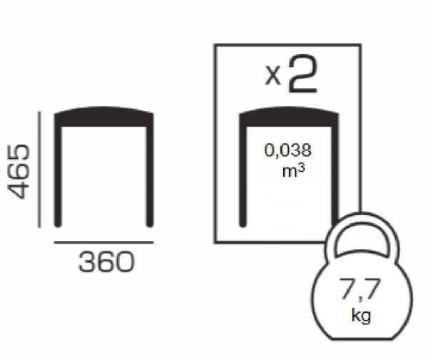 Set 2 taburete  Clever, Lemn, Nut 4