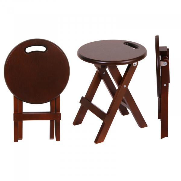 Set 2 taburete  Clever, Lemn, Nut [1]