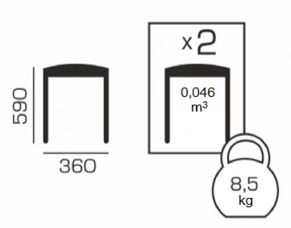 Set 2 taburete pliabile Clever L, Lemn, Beech [5]