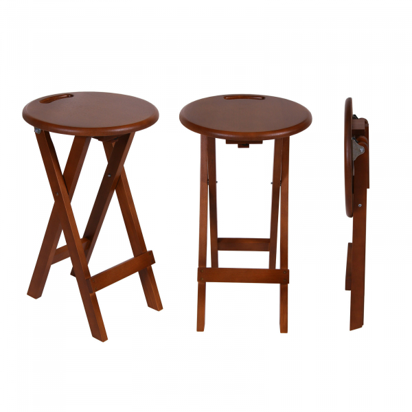 Set 2 taburete pliabile Clever L, Lemn, Walnut 0