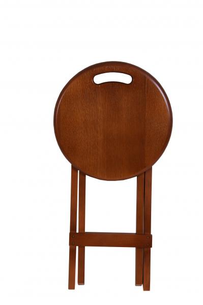 Set 2 taburete pliabile Clever L, Lemn, Walnut 1