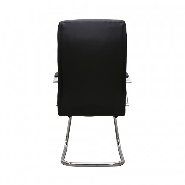 Scaun de vizitator HEDO CF, piele ecologica, negru 3