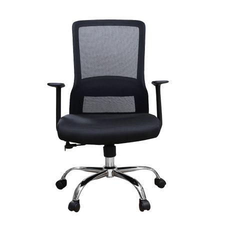 Scaun de birou ergonomic EASY, mesh, negru [1]