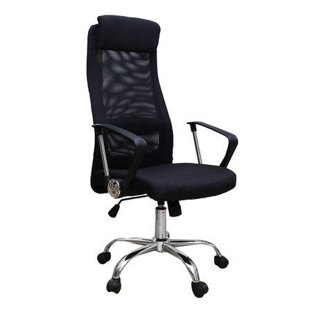 Scaun de birou ergonomic HERTZ, mesh/textil, negru 0
