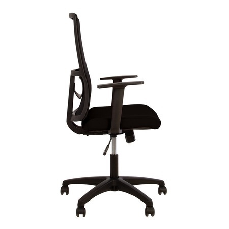 Set 2 scaune de birou MERCAS, cu brate, mesh/textil, negru [3]