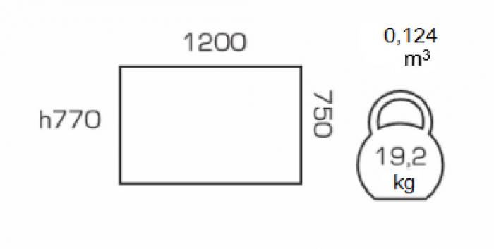 Masa de bucatarie GREMY, 120*75 cm, Nut [1]