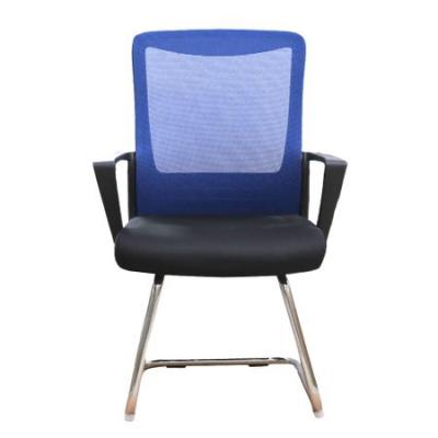 Scaun conferinta/vizitator CANNES CF, mesh, negru/albastru1