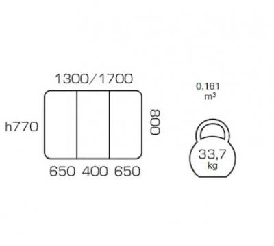 Masa de bucatarie extensibila COSY, 130(170)*80, Nut2