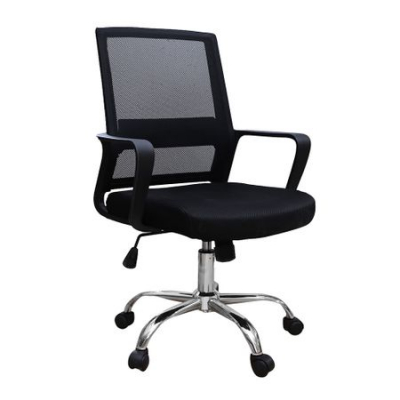 Scaun de birou ergonomic VEKTOR, mesh, negru [0]