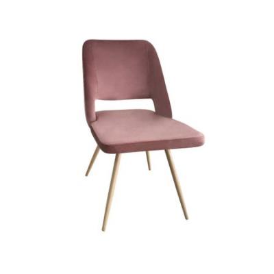 Set 4 scaune dining MANGO, catifea, picioare metalice, carmin1