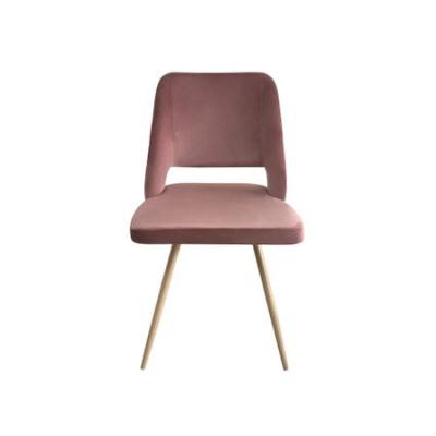 Set 4 scaune dining MANGO, catifea, picioare metalice, carmin2