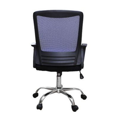 Scaun de birou ergonomic CANNES, mesh, negru/albastru3
