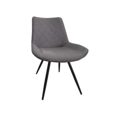Set 2 scaune dining METTA, textil, picioare metalice, gri [1]
