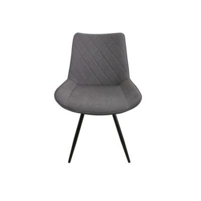 Set 2 scaune dining METTA, textil, picioare metalice, gri [2]