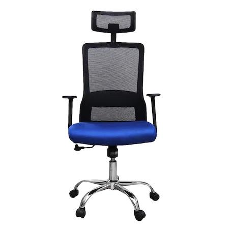 Scaun de birou ergonomic HELSINKI, mesh, albastru/negru [1]
