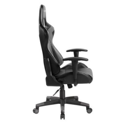 Scaun directorial GAMING TIME, ergonomic, piele ecologica, negru/gri2