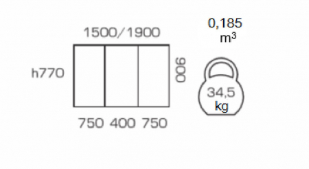 Masa de bucatarie extensibila GREMY, 150(190)*90 cm, Nut [2]