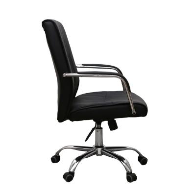 Scaun de birou HEDO, piele ecologica, negru [2]