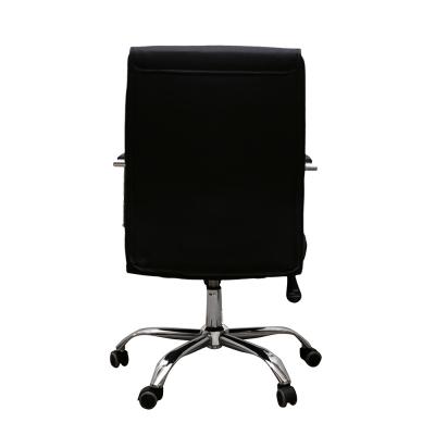 Scaun de birou HEDO, piele ecologica, negru [3]