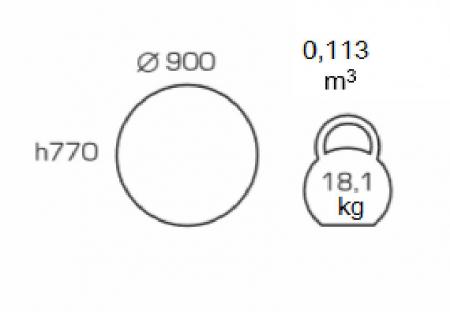 Masa de bucatarie GREMY, D900 mm, Beige [1]