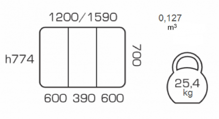 Masa de bucatarie extensibila QUANTAS,  120(160)X70 cm, Nut [3]