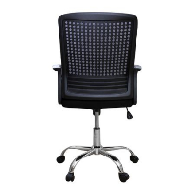 Scaun de birou ergonomic HEXI, mesh, negru [3]