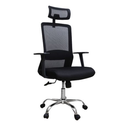Scaun de birou ergonomic HELSINKI, mesh, negru0