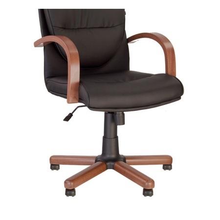 Set 2 scaune directoriale EXONIA EXTRA, brate din lemn, piele ecologica, Negru [3]