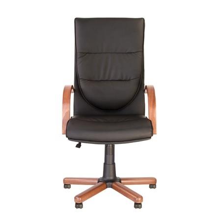 Set 2 scaune directoriale EXONIA EXTRA, brate din lemn, piele ecologica, Negru [5]