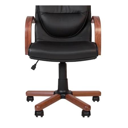 Set 2 scaune directoriale EXONIA EXTRA, brate din lemn, piele naturala, negru [3]
