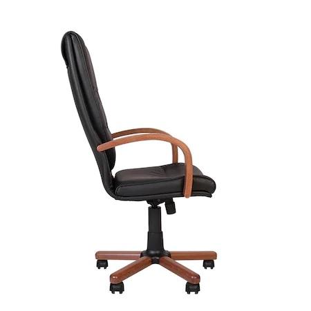 Set 2 scaune directoriale EXONIA EXTRA, brate din lemn, piele naturala, negru [5]