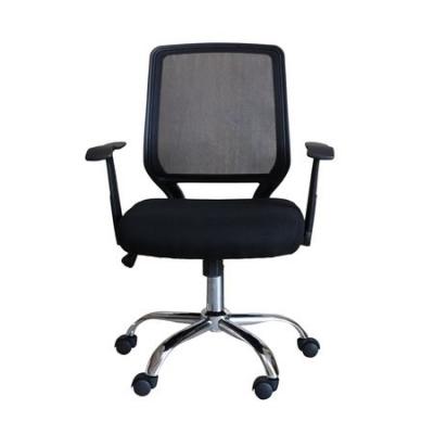 Scaun de birou ergonomic MAMBA, Mesh/Textil, Negru1