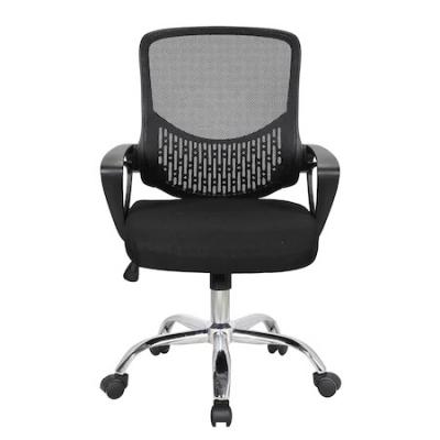 Scaun de birou ergonomic GRAVO, Negru, Mesh/Textil1