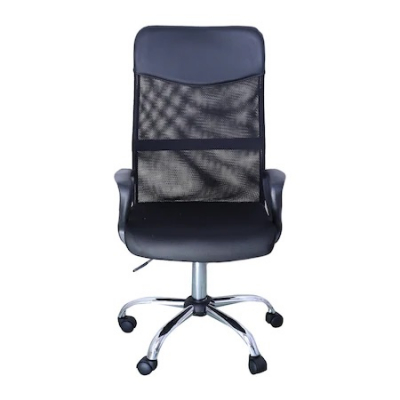 Scaun de birou ergonomic BENZA, Mesh, Negru [1]