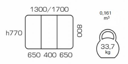 Masa de bucatarie extensibila LUMAS, 130(170)*80, White [2]