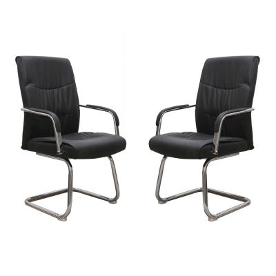 Set 2 scaune de vizitator HEDO CF, piele ecologica, negru [0]