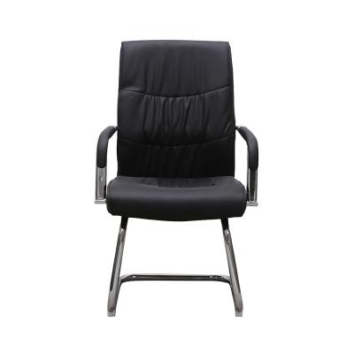 Set 2 scaune de vizitator HEDO CF, piele ecologica, negru [2]
