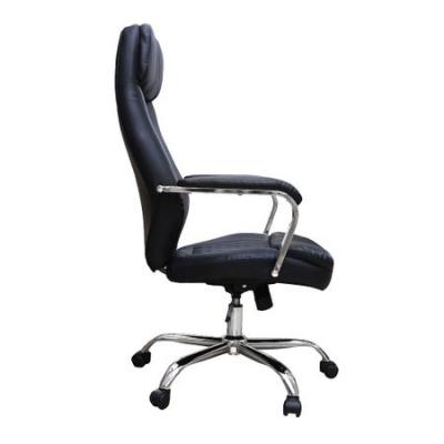 Scaun de birou directorial MENGALOS, piele ecologica, negru [2]