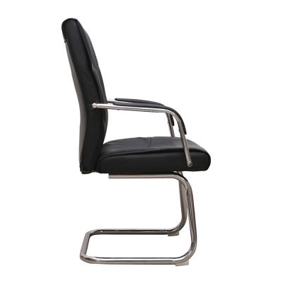 Set 2 scaune de vizitator HEDO CF, piele ecologica, negru [3]