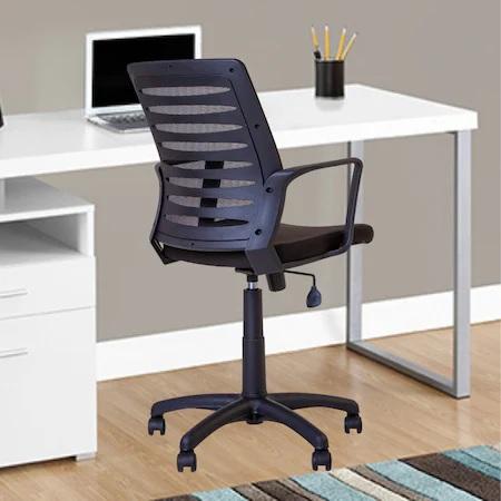 Set 2 scaune de birou MASTER GTP, cu brate, mesh/textil, negru [2]