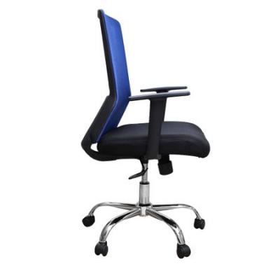 Scaun de birou ergonomic EASY, mesh, negru/albastru2