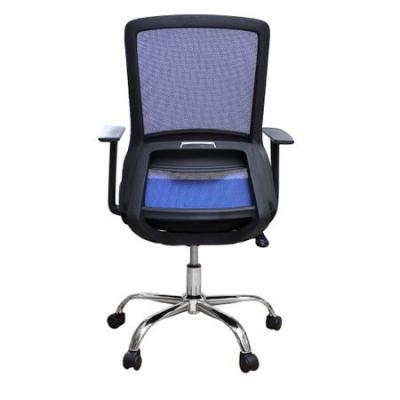 Scaun de birou ergonomic EASY, mesh, negru/albastru3