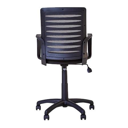 Scaun de birou MASTER GTP, cu brate, mesh/textil, negru [4]